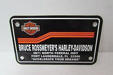 BRUCE ROSSMEYER'S FORT LAUDERDALE HARLEY DAVIDSON DEALER LICENSE PLATE