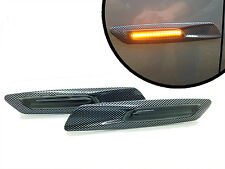 Carbon Fibre Smoke Lens LED F10 Style Side Repeaters BMW 3 Series E90 E91 E92 E9