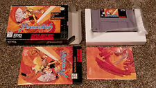 Brandish Super Nintendo SNES RPG Video Game CIB Complete Poster lot CLEAN TESTED