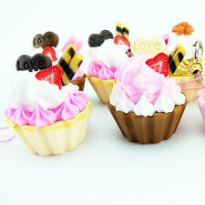 Hot Hard Cute Icecream Fruit Cup Cake Cell phone Charms Bag Key Chain Straps Toy