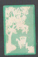 Playing Swap Cards  1 VINT EARLY  U.S. HORSE & CARRIAGE  UNDER TREE W321