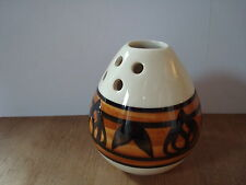 "VINTAGE JERSEY POTTERY POT POURI VASE APPROX 3.5"" TALL GEOMETRIC / RETRO DESIGN"