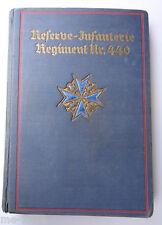 Buch  Regimentsgeschichte   Reserve IR 440  Stalling Verlag 1933