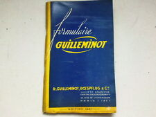 FORMULAIRE GUILLEMINOT  EDITION 1951   *