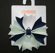 New Gymboree Geo Ribbon Clip Bow Barrette Clip Hair Accessory NWT Blue Safari
