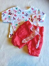 Baby Girls Clothes Newborn -Butterfly Outfit -Top & 3/4 Trousers -✅ Our Bundles
