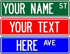 """STREET SIGN, 6""""X24"""" CUSTOMIZE WITH ANY NAME OR TEXT (2 SIDED)"""