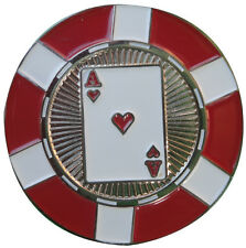 Ace of Hearts Poker Chip Golf Ball Marker - Package of 2