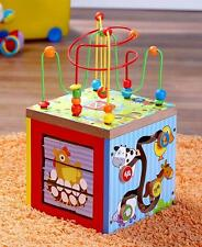 Toddler Baby Activity Cube Block w/ Baby Slide Game Bead Runner & Puzzles Block