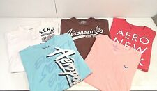 Lot of 5 American Eagle & Aeropostale Mens Shirts Size Large T-Shirt Brown Red L
