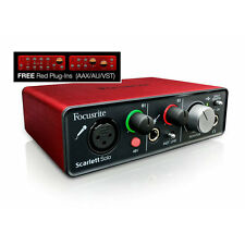 BRAND NEW Focusrite Scarlett Solo USB Audio Interface FREE Red Plug-ins