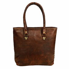 Fair Trade Handmade Large Brown Leather Shopping Bag - 2nd Quality