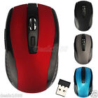 Adjustable 1600DPI 2.4GHz Optical Wireless USB Mouse Mice For Laptop PC Computer