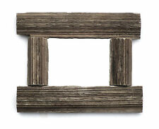 Grained Driftwood Mirror  Approx: 14cm x 17.5cm