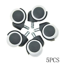 5pcs eating Concepts Rubber Computer Roller Soft Office Chair Caster Wheel
