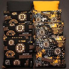 All Weather BOSTON BRUINS Cornhole Bags  8 Resin Filled WATERPROOF NHL