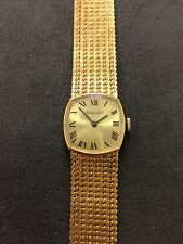 Vintage Mathey Tissot 14K Gold Watch With An 18K Solid Gold Band