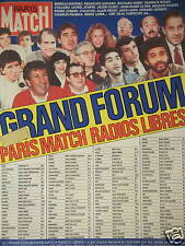 PUBLICITÉ 1987 GRAND FORUM PARIS MATCH RADIO LIBRES - ADVERTISING