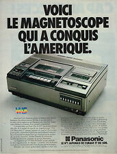 PUBLICITE ADVERTISING  1979   PANASONIC   magnétoscope