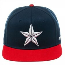 MARVEL'S CAPTAIN AMERICA - STAR NAVY AND RED SNAPBACK CAP *BRAND NEW*
