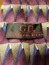"Grateful Dead Tie ""Down The Mountain"" Twenty Second Set Geometric Silk Hand Made"
