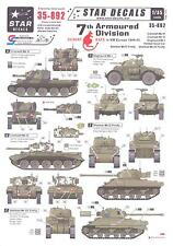 Star Decals 1/35 7th ARMOURED DIVISION (DESERT RATS) IN NORTHWEST EUROPE 1944-45
