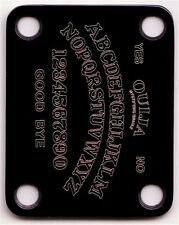 GUITAR NECK PLATE Custom Engraved Etched - OUIJA BOARD - BLACK