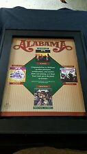 Alabama Cheap Seats Rare Original Promo Poster Ad Framed!