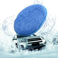 Blue Microfiber Foam Sponge Polish Wax Applicator Pad Mat For Car Home Cleaning