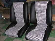 PORSCHE 911 1965-73 SEAT KIT BLK/WHT HOUNDS TOOTH GERMAN VINYL KIT NEW BEAUTIFUL