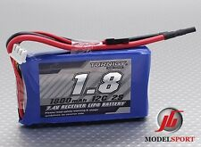 Turnigy 1800mAh 2S 12C 7.4V Lipo Battery Receiver Pack JR/Futaba Plug Rx