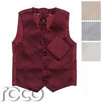 Boys waistcoats, Boys Cravat, Prom, Page Boy Waistcoats, Striped Waistcoat