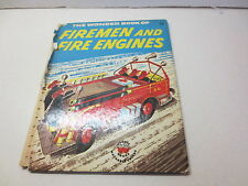 The Wonder Book of Firemen and Fire Engines by Lisa Peters vintage 1956 Wonder