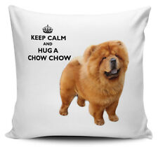 Keep Calm And Hug A Chow Chow Cushion Cover - 40cm x 40cm - Brand New