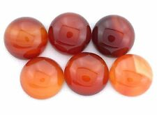 Three 12mm Round Carnelian Agate Cabochon Gem Gemstone cac16