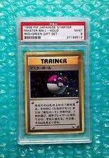 1998 Pokemon Japanese Starter MASTER BALL Holo Red/Green Deck Gift Set PSA-9 MT!