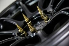 "GOLD 20"" 12X1.5 Aodhan XT92 SPIKED Lug Nuts FIT ROHANA Work Enkei RAYS WHEEL"