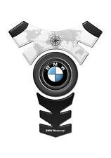TANK PAD Paraserbatoio RESINATO 3D PER MOTO BMW CENTER LOGO BLACK STYLE GP-080B