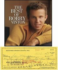 BOBBY VINTON    AMERICAN  POP SINGER   SIGNED BANK CHEQUE / CHECK 1973 RARE ITEM