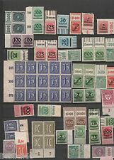 Deutsches Reich Inflation Mix Postfrisch Mnh **  Lot Inf 35