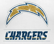 NFL - San Diego Chargers Bling - Iron-on Glitter Vinyl & Rhinestone Transfer