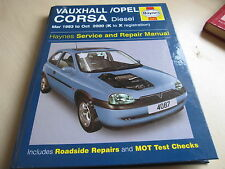 HAYNES WORKSHOP MANUAL VAUXHALL CORSA/OPEL, DIESEL 1993-2000,ONE OWNER FROM NEW.