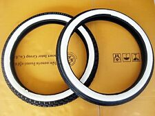 HONDA SS50 C110 CA110 C115 CLASSIC F/R WHITE WALL TIRE SET DOT. 2.25/2.50 BID