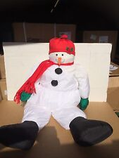 STUFFED SNOWMAN CHRISTMAS DECORATION -3FEET TALL!!!