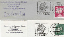1986 GERMAN SHIPPING MUSEUM BREMERHAVEN TWO SLOGAN POSTMARKS