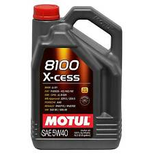 Motul 8100 X-Cess 5W40 High Performance Fully Synthetic Engine Oil 5 L