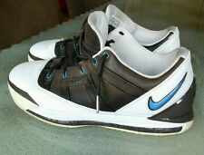 Vintage 06 Nike Zoom LEBRON III 3 LOW WHITE UNIVERSITY BLUE BAROQUE BROWN