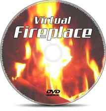 Virtual Fireplace Real Wood Log Relax DVD for Plasma TV DVD: 0/All