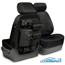 NEW Tactical Ballistic Solid Black Seat Covers w/Molle System / 5102069-13