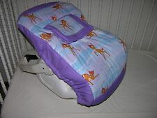 NEW INFANT CAR SEAT CARRIER COVER M/W BAMBI & LAVENDER FABRIC